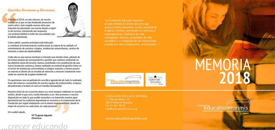 Memoria 2018 de la Fundación Educatio Imprimis